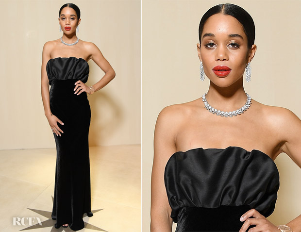 Laura Harrier In Brock Collection - Bvlgari Cocktail Party