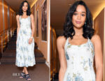 Laura Harrier In Brock Collection - Bvlgari Press Breakfast At Baselworld 2018