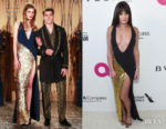 Lea Michele In La Perla - Elton John's AIDS Foundation Academy Awards Viewing Party