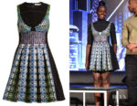 Lupita Nyong'o's Mary Katrantzou Narcisse Circle-Jacquard Dress