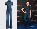 Madelaine Petsch's  AO.LA by alice + olivia Gorgeous Wide Leg Jumpsuit