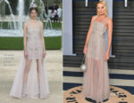 Margot Robbie In Chanel Couture - 2018 Vanity Fair Oscar Party