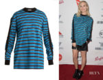 Margot Robbie's Givenchy Stripe Sweatshirt