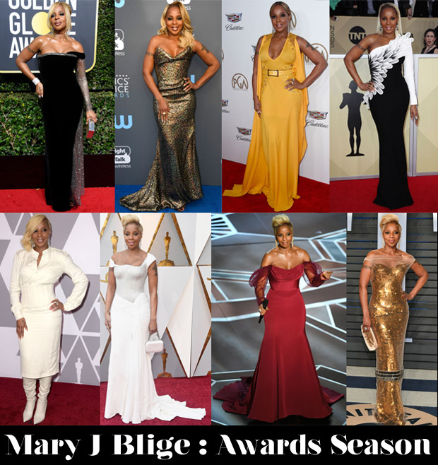 Which Was Your Favourite Mary J Blige Awards Season Look?