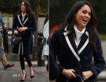 Meghan Markle In J. Crew & All Saints - Birmingham Visit