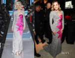 Miley Cyrus In Moschino - Elton John's AIDS Foundation Academy Awards Viewing Party