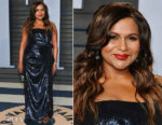 Mindy Kaling In Atelier Prabal Gurung - 2018 Vanity Fair Oscar Party