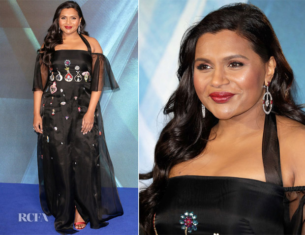 Mindy Kaling In Temperley London A Wrinkle In Time London Premiere Red Carpet Fashion Awards