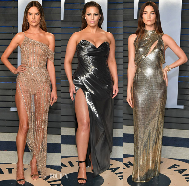dd80cb3a99 Models @ The Vanity Fair Oscar Party - Red Carpet Fashion Awards