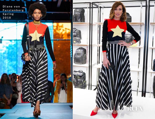 Nieves Alvarez In Diane von Furstenberg - TUMI Store Opening
