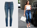 Olivia Culpo's  AO.LA by alice + olivia Good High Rise Exposed Button Jeans