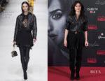 Penelope Cruz In Versace & Balmain 44 François Premier - 'Loving Pablo' Madrid Photocall & Premiere