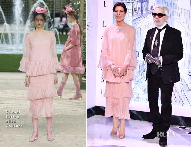 Princess Caroline Of Monaco In Chanel Couture 2018 Rose