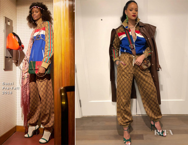 ec558a3b58c2 Rihanna is Instaglam in Gucci - Red Carpet Fashion Awards