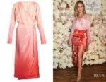 Rosie Huntington-Whiteley's Attico Silk Wrap Dress