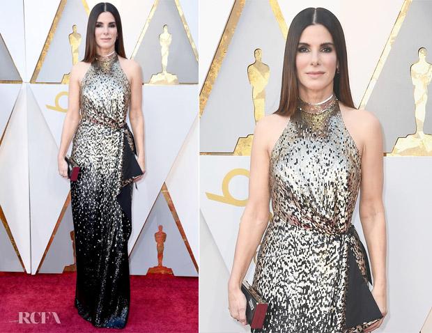 Sandra Bullock In Louis Vuitton - 2018 Oscars - Red Carpet