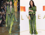 Shu Qi In Elie Saab - Bvlgari Press Breakfast At Baselworld 2018
