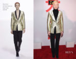 Tilda Swinton In Haider Ackermann - 'Isle Of Dogs' New York Screening