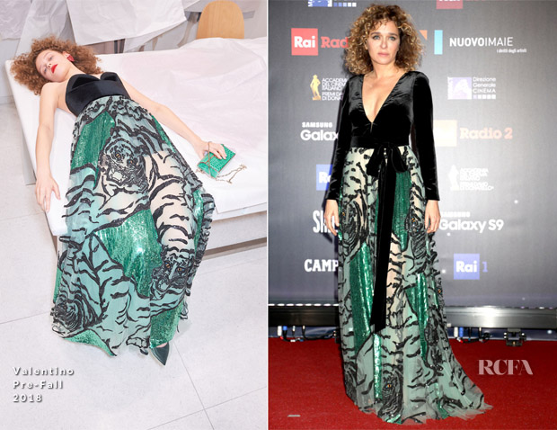 Valeria Golino In Valentino - 62nd David Di Donatello Awards