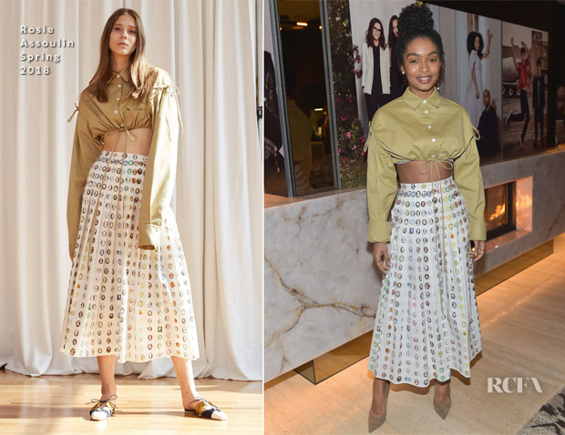Yara Shahidi In Rosie Assoulin - The Hollywood Reporter And Jimmy Choo Power Stylists Dinner