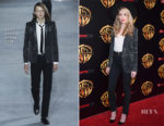 Amber Heard In Saint Laurent - CinemaCon Presentation of 'Aquaman'