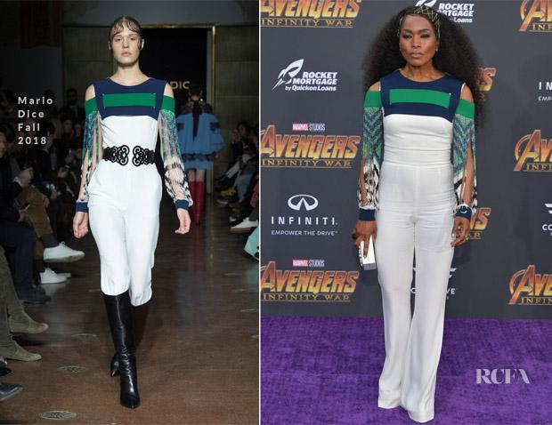 Angela Bassett In Mario Dice - 'Avengers: Infinity War' LA Premiere