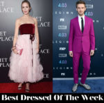 Best Dressed Of The Week - Emily Blunt in Oscar de la Renta & Dan Stevens in Paul Smith