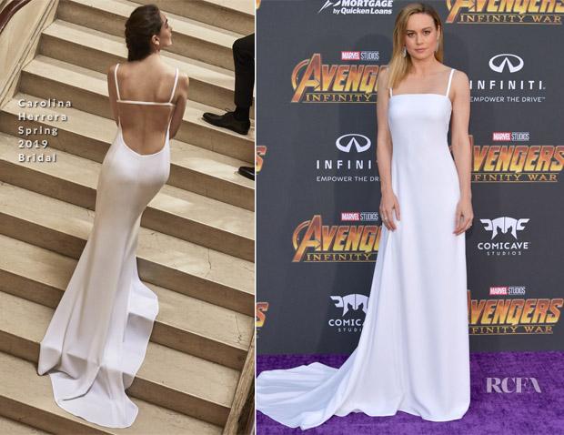 Brie Larson In Carolina Herrera - 'Avengers: Infinity War' LA Premiere