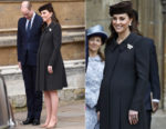 Catherine, Duchess of Cambridge In Catherine Walker - Easter Service