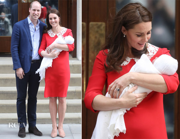 Catherine, Duchess of Cambridge and Prince William's Newborn Prince Makes His First Public Appearance
