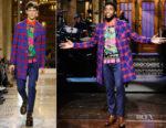 Chadwick Boseman In Versace - Saturday Night Live