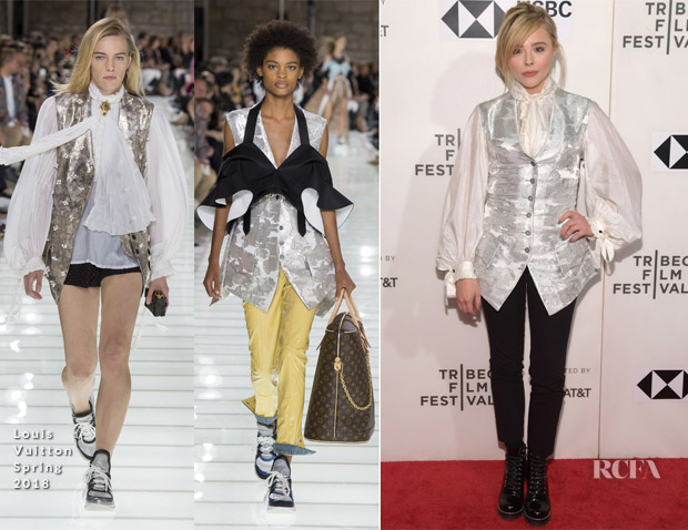 Chloe Grace Moretz In Louis Vuitton - 'Miseducation of Cameron Post' Tribeca Film Festival Premiere