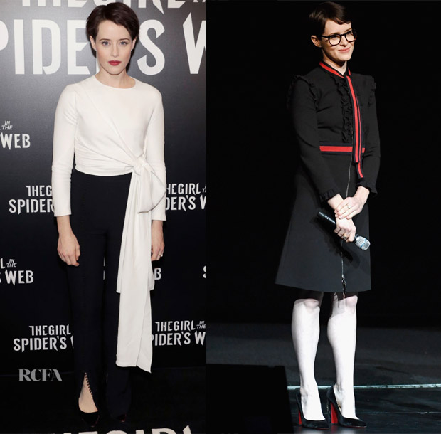 Claire Foy In 16Arlington & Gucci - CinemaCon 2018