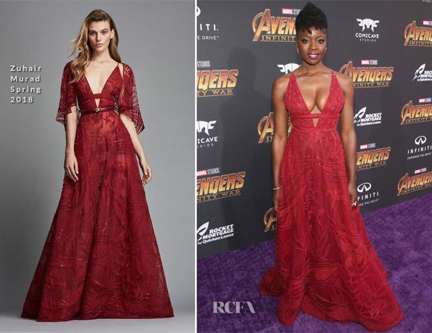 Danai Gurira In Zuhair Murad - 'Avengers: Infinity War' LA Premiere