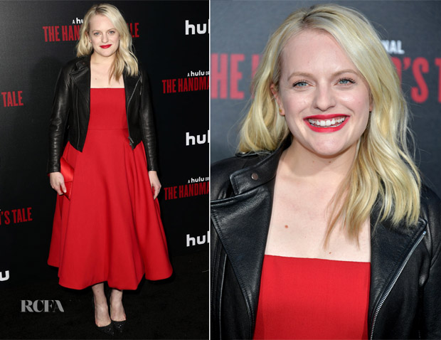 Elisabeth Moss In Christian Dior -  'The Handmaid's Tale' Season 2 Premiere