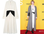 Elizabeth Debicki's Victoria Beckham Dual-Colour Dress