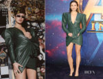 Elizabeth Olsen In Alexandre Vauthier - Marvel Studios' 'Avengers: Infinity War' UK Fan Event