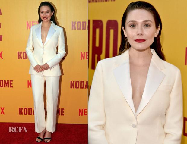 Elizabeth Olsen In Christian Dior - 'Kodachrome' LA Premiere