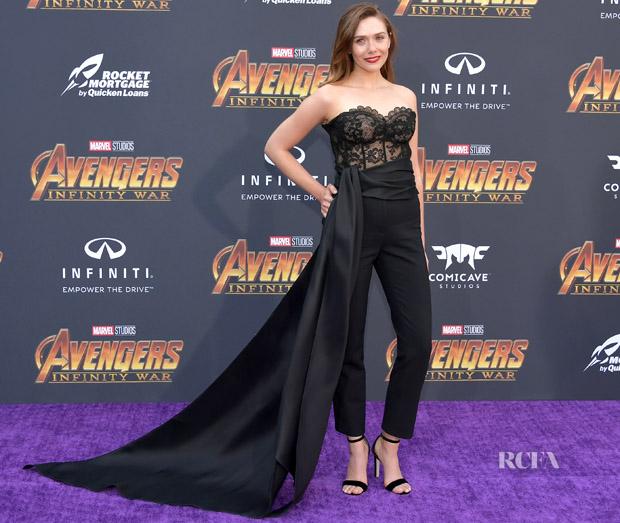 Elizabeth Olsen In Oscar de la Renta