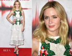 Emily Blunt In Elie Saab & SemSem - 'A Quiet Place' London Screening & Magic Radio