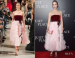 Emily Blunt In Oscar de la Renta - 'A Quiet Place' New York Premiere