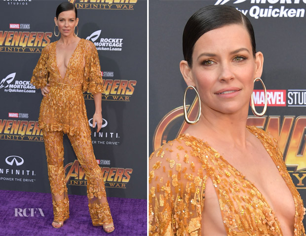 Evangeline Lilly In Zuhair Murad Couture - 'Avengers: Infinity War' LA Premiere