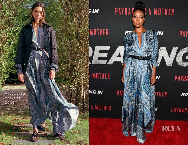 Gabrielle Union In Altuzarra - 'Breaking In' Atlanta Screening