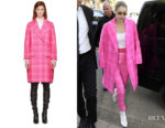 Gigi Hadid's Fendi Pink Plaid Coat