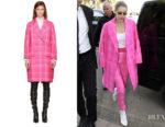 Gigi Hadid's Fendi Pink Plaid Coat