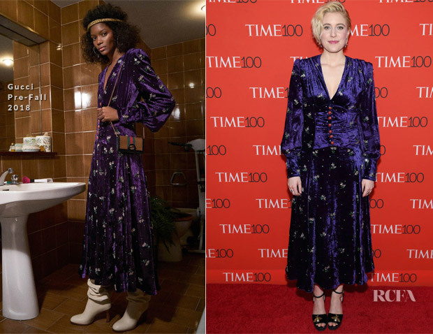 Greta Gerwig In Gucci - 2018 Time 100 Gala