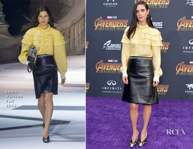 Jennifer Connelly In Louis Vuitton - 'Avengers: Infinity War' LA Premiere