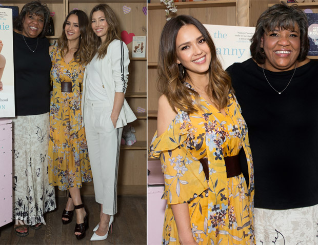 Jessica Biel and Jessica Alba celebrate the launch of 'The Nanny Connie Way'