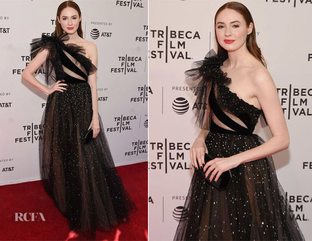 Karen Gillan In Valentino - 'The Party's Just Beginning' Tribeca Film Festival Premiere
