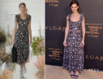 Katie Holmes In  Ulla Johnson - BVLGARI World Premier Screening At 2018 Tribeca Film Festival